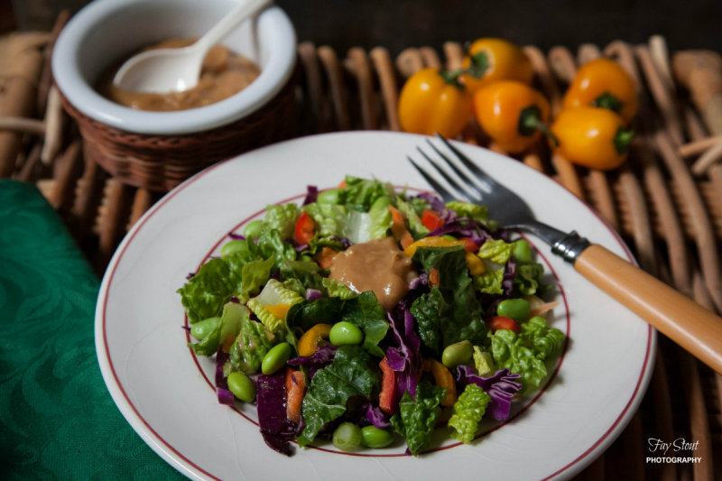 Thai Salad with a Ginger Peanut Dressing