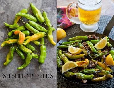 Shishito Peppers with Prosciutto