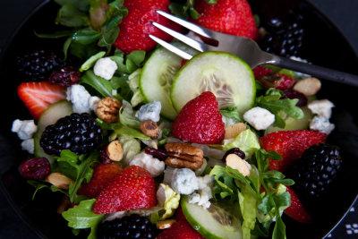 Strawberry Arugula Salad with Ginger Dressing