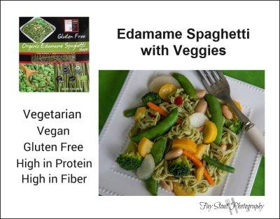 Edamame Spaghetti with Veggies