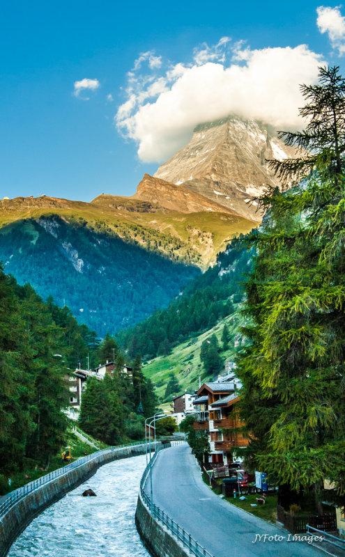 Matterhorn Summit in Cloud Cover