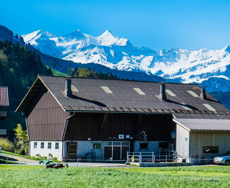 Eiger, Monch, JungFrau From a Distance