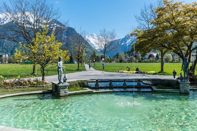 View from Interlaken Center Towards the Jungfrau