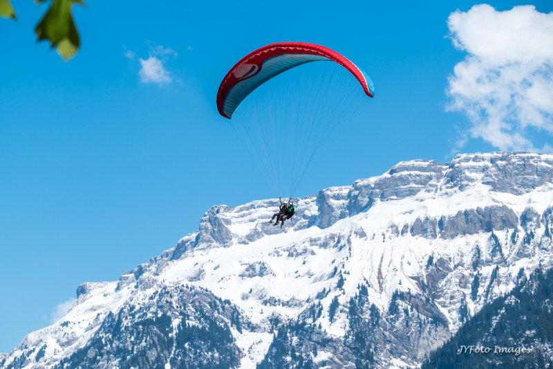 Hang Gliding into Interlaken