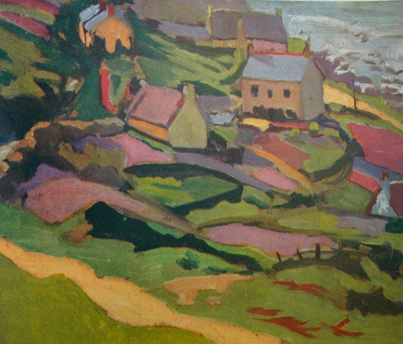 Jan Gordon Small Coast Town, Sennen Cove, Cornwall.