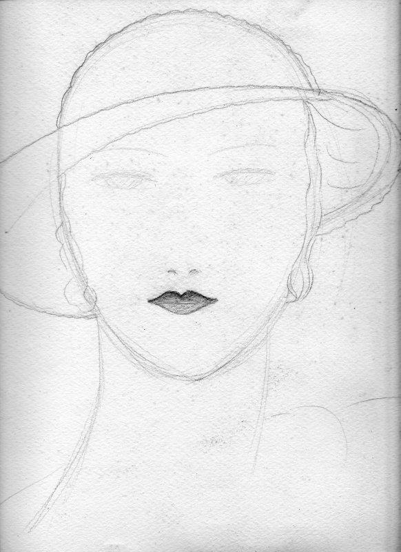 Cora Gordon face doodle 1920s.jpg