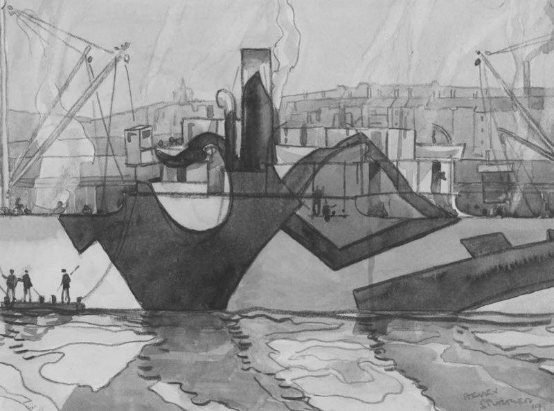 Steven Spurrier Dazzle ship painting