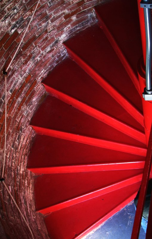 Staircase in the Owls Head Lighthouse