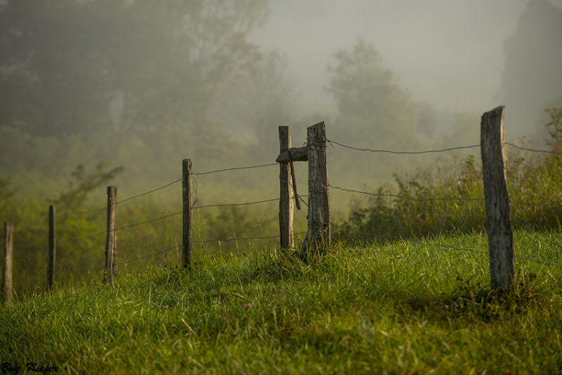 Fence Line on a Small Hill