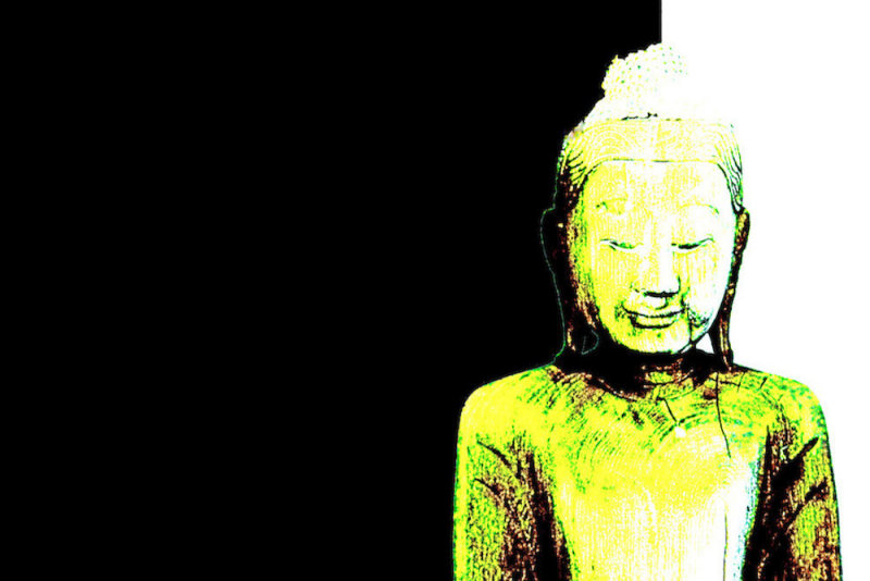 Buddha Black and Yellow