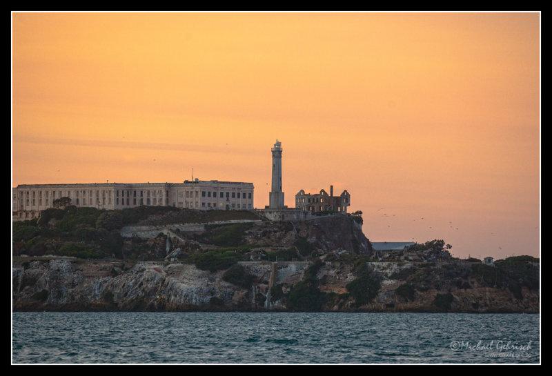 Alcatraz at sunset