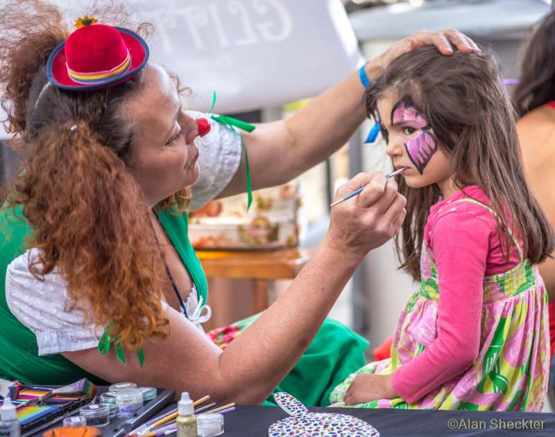 * Face painting