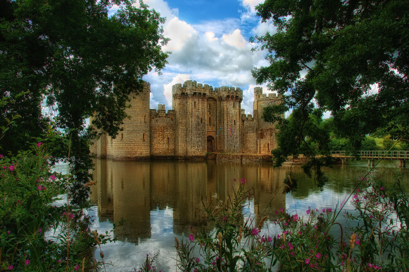 Bodiam Castle through the Trees