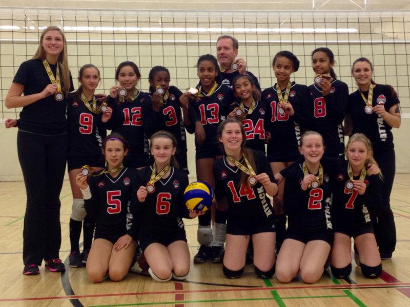 Durham Attack 13U Heat Wins Bronze at the 13U OVA Scarborough University's Girls Volleyball Tournament