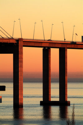 Vasco da Gama Bridge at Sunset