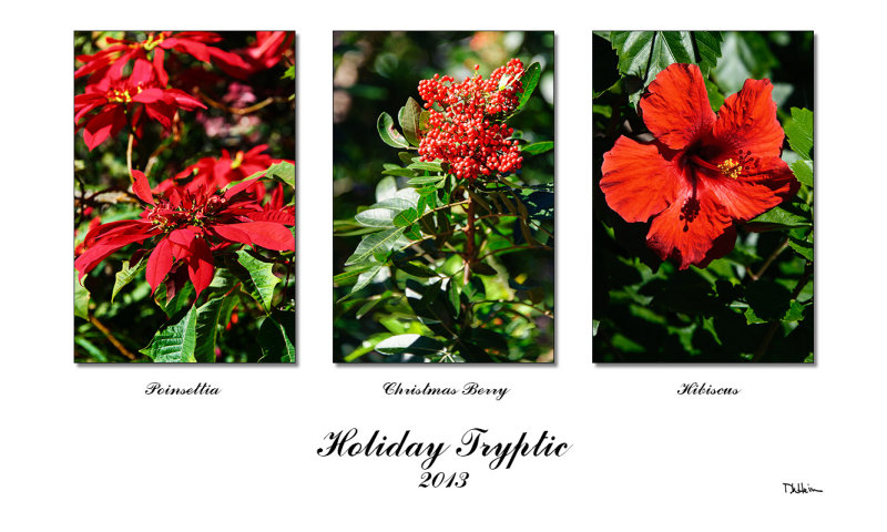 holiday triptych