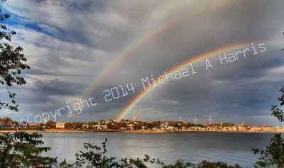 Double Rainbow Over Gloucester, Mass.