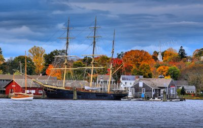 JOSEPH CONRAD: Squared Rigged Ship, Mystic Seaport Museum