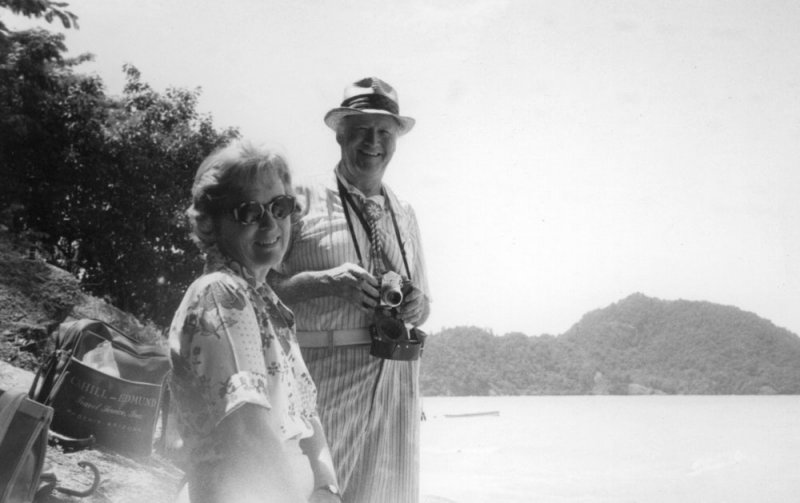 In Thailand with his wife, Margaret