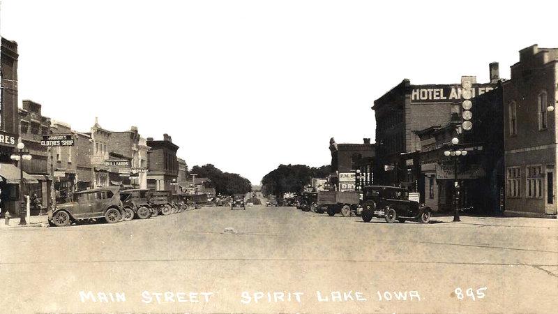 Main St Spirit Lake 1925/26