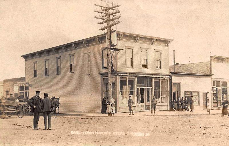 Torstensen Store Milford Iowa early 1900s