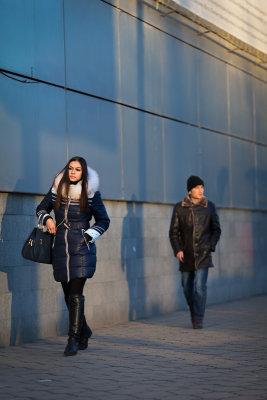 Woman walking - Bishkek