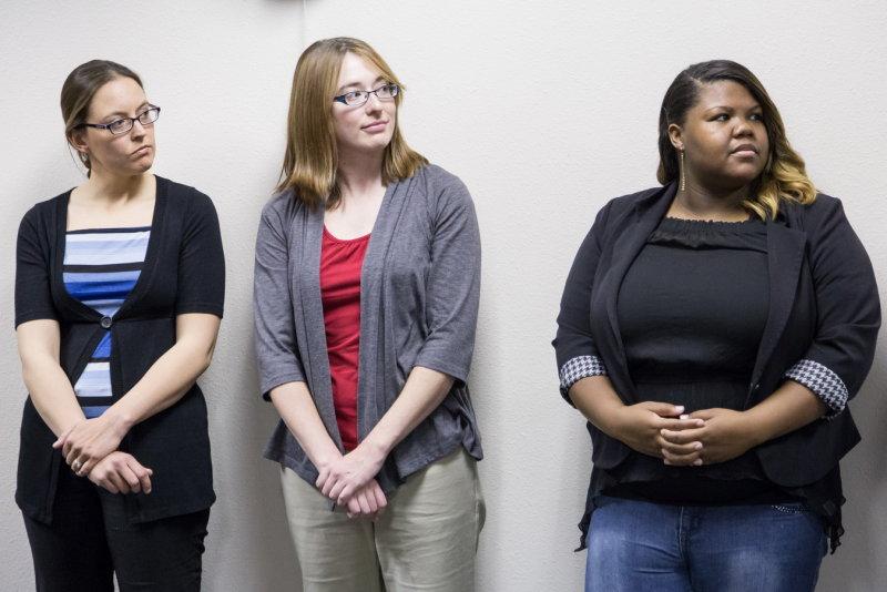 Allison Harvey, Erin Schmidt, and Simone Crum