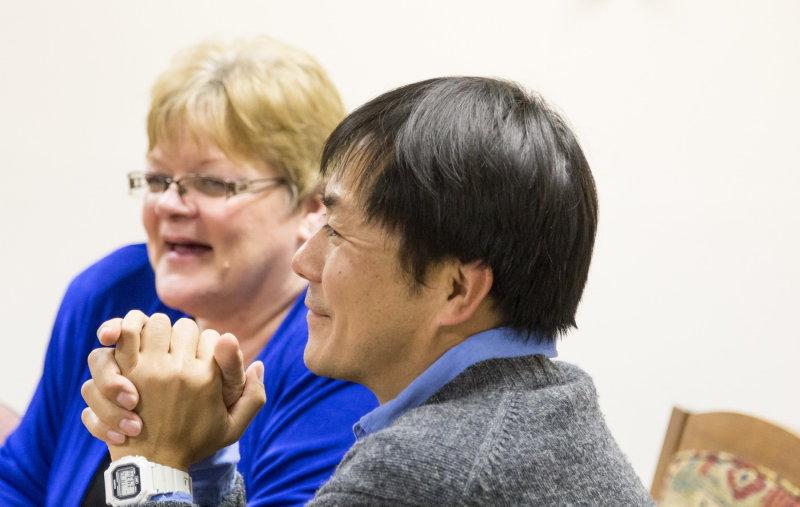 Admn. Assistant Barb Burrell and Dr. Fumi Arakawa