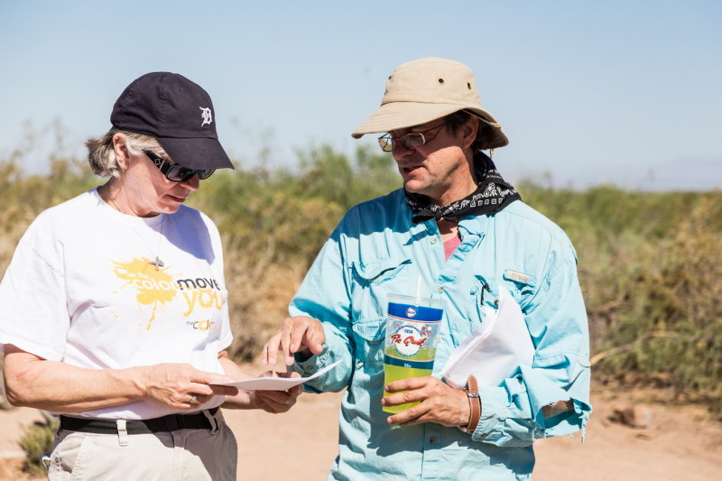 Dr. Nancy McMillan (Head NMSU Geology) and Dr. William Walker