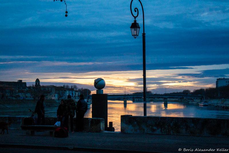 Evening by the Rhône River