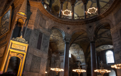 Inside St. Sophias Mosque