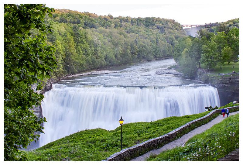 An evening at Middle Falls