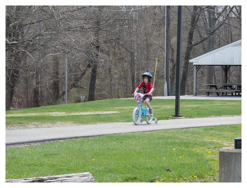 A little bike riding