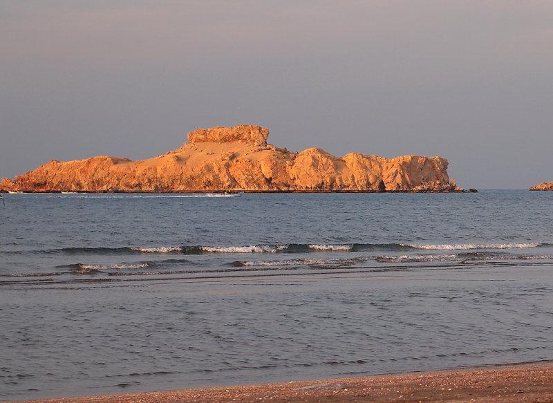 evening glow at Sawadi beach