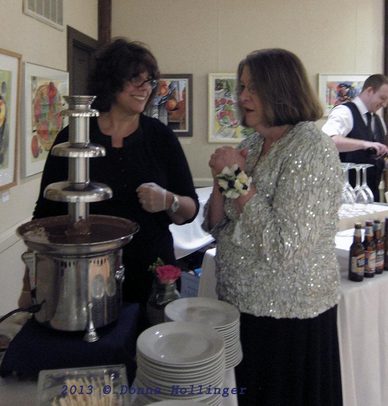 Paula and the Chocolate Fountain