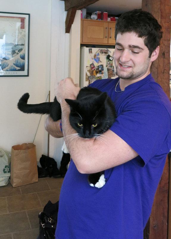 Domenic and Rocky Kitty