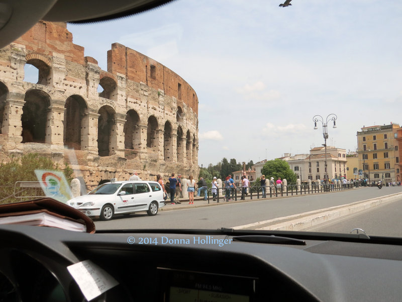 Left hand View of the Colisseum