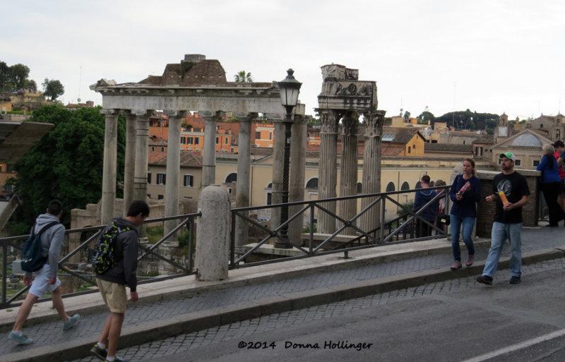 Roman Forum with Tourists