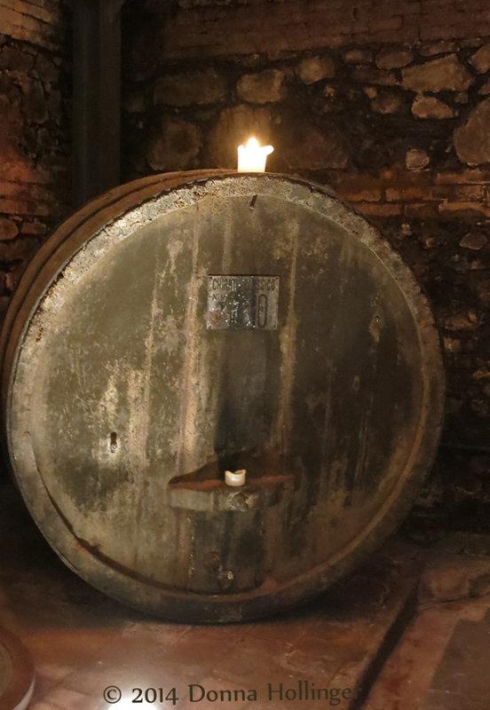 Vintage Barrel In Dievole Wine Cellar
