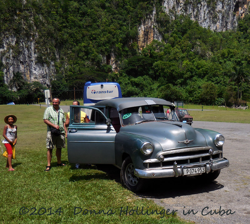 Old Chevy Taxi At the Caves