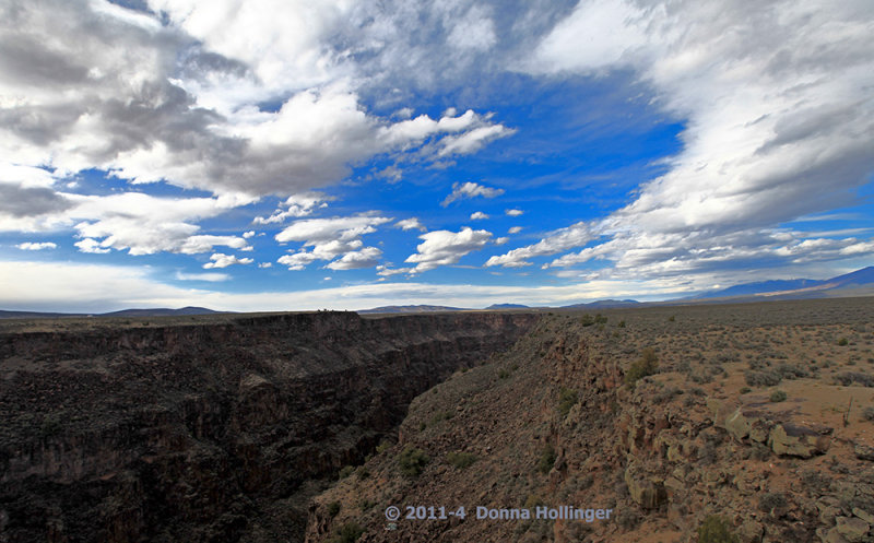Clouds gathering over the Rio Grande Gorge
