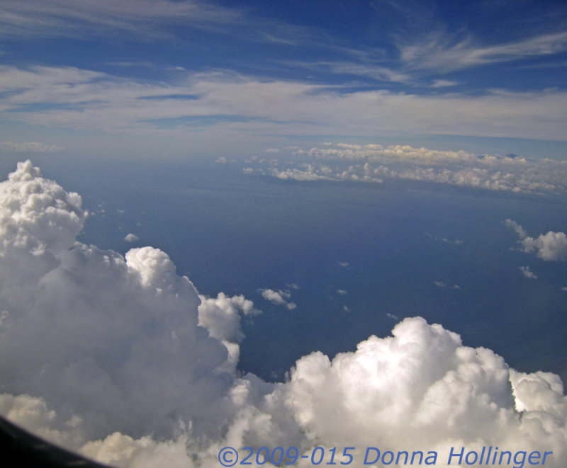 Clouds on the Flight from Australia to Bali