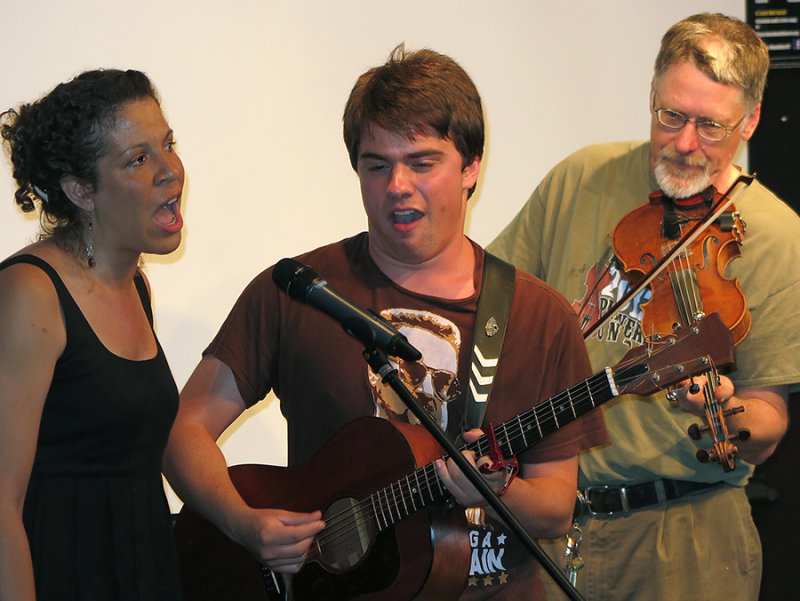 Amber, Dan, and       Performing