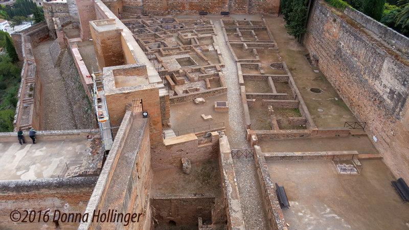 Ruins of the original Alcazaba