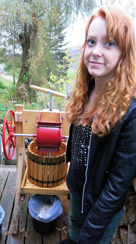 Charlotte Making Cider