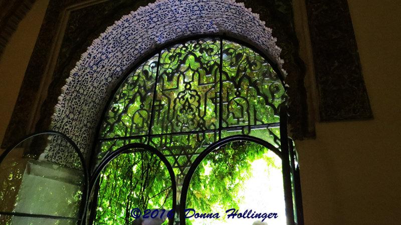 Arabic Designed Window at the Real Alcazar
