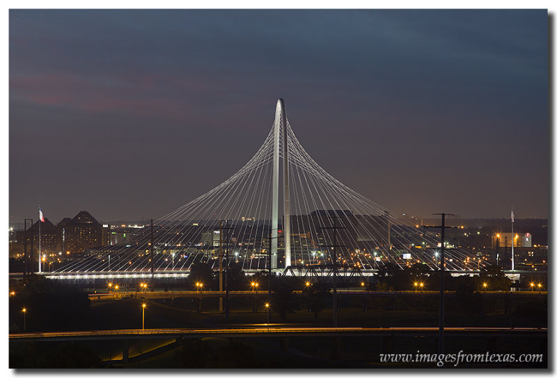 Dallas Skyline Images - Margaret Hunt Hill Bridge
