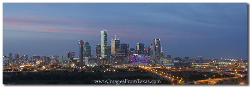 Dallas Skyline Panorama 612-1