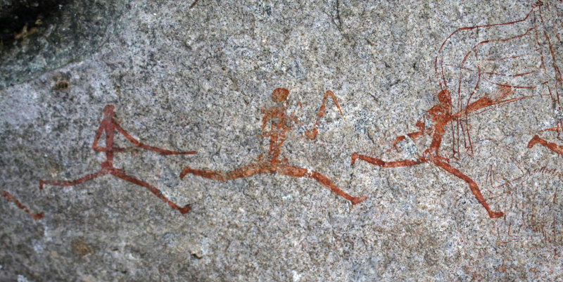 San Rock Painting, Matobo Hills, Zimbabwe