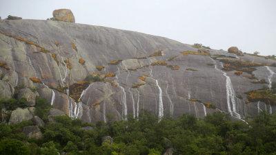 Waterfalls after thunderstorm, Matobo Hills, Zimbabwe